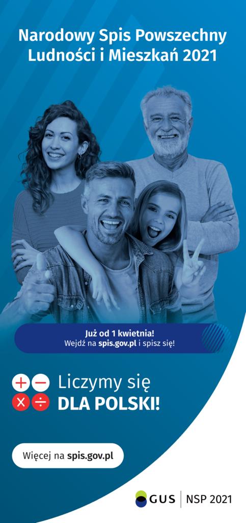 Narodowy Spis Powszechny Ludności i Mieszkań 2021 Już od 1 kwietnia! Wejdź na spis.gov.pl i spisz się!